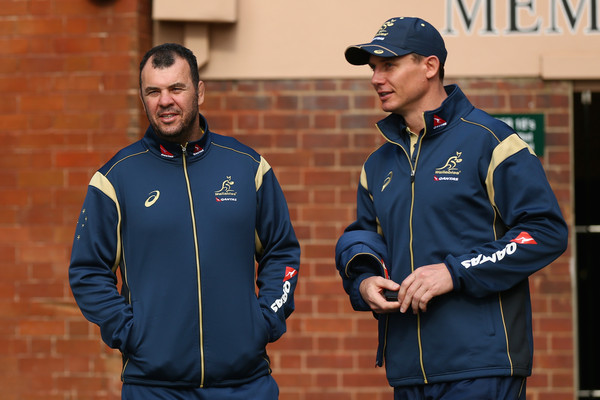 Stephen Larkham Michael Cheika Wallabies