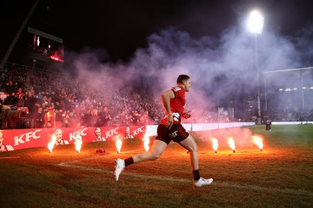 David Havili des Crusaders. Crédits : Zimbio.com.